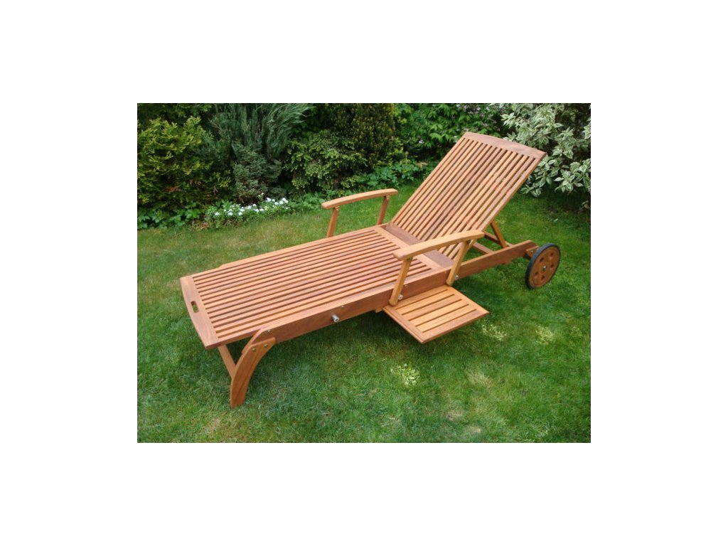 Как сделать деревянный лежак для дачи